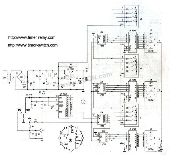 数显时间继电器原理图